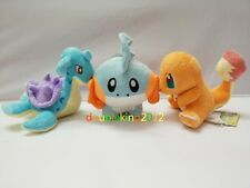 New 3Pcs/Set Lapras Mudkip Charmander Pokemon Cute Soft Plush Toys Dolls Gifts