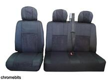 QUALITY BLACK FABRIC SEAT COVERS 2+1 FOR VAUXHALL OPEL VIVARO NEW IN A BAG