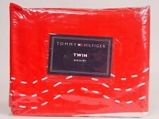 NEW Tommy Hilfiger Molly TWIN Bedskirt Bedskirt - Red