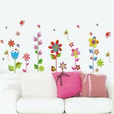 Flower Butterfly Removable DIY Art PVC Decal Mural Home Room Decor Wall Stickers