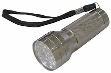 *Silver Aluminium 21 LED Flashlight Torch BB-RT372 3 x AAA batteries required