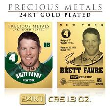 BRETT FAVRE 24KT Gold Plated Precious Metals Card CRS 1.3 oz Packers