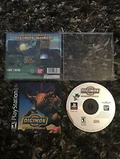 PS1 Digimon Digimon World Digital Monsters CIB Complete Black Label