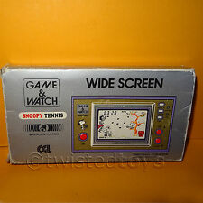 Vintage 1982 NINTENDO GAME & WATCH SNOOPY TENNIS SP-30 Portátil en caja (defectuoso)