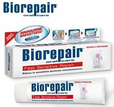 Biorepair® FAST SENSITIVE repairs tooth enamel dental care toothpaste MINERALIZE