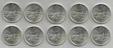 REPUBBLICA ITALIANA - Lotto di 10 pezzi da 500 Lire argento Dante 1965 FDC