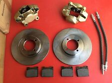New Triumph Spitfire or Herald type 14 front Brake Kit calipers pads discs hoses
