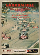 SILVERSTONE 11 Apr 1976 GRAHAM HILL INTERNATIONAL TROPHY A4 Programme
