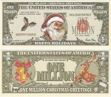 USA United States 1 Million Dollars 2011 UNC Fantasy XMAS Santa Claus Banknote
