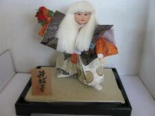 "Japanese Man Theater Doll Silk Clothing 10"" on Stand"