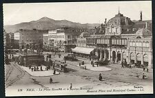 C1920's View of a Tram, Motor Cars, People at the Massena Palace & Casino, Nice