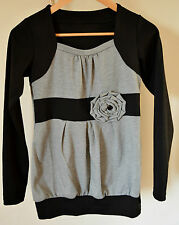 Grey and Black long sleeve Jumper UK size 10 or S