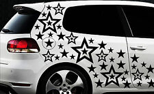 93 Sterne Star Auto Aufkleber Set Sticker Tuning Shirt Stylin WandtattooTribel 0