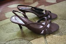 USED 10M Prissy Oxford brown fabric Naturalizer dress heels