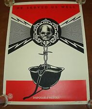 Metallica Disposable Heroes Art Print Poster S/# 450 Shepard Fairey Obey Giant