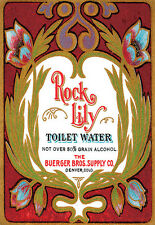 Vintage Perfume Advert Rock Lily Toilet Water Buerger Bros Supply   Poster Print