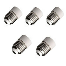 5×E27 A E14 Base LED Luz Lámpara Bombilla Adaptador Convertidor Tornillo Enchufe