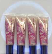 BATH & BODY WORK LIPLICIOUS PEARL GLASS LIP GLOSS SET OF 4 LABEL  IS CROOKED