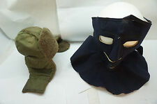 VINTAGE ARMY COLD WEATHER HAT FACE COVERING USAAF WOOL FELT HAT LINER MILITARY