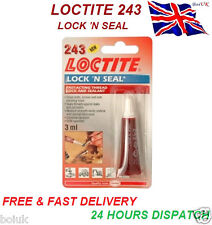 Loctite 243 Lock 'n Seal Thread & Sealant Fast Acting Secure Nut/Bolt 3ml 1227
