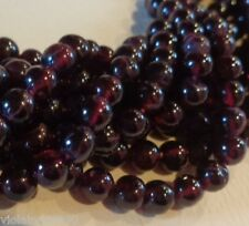 LOT DE 20 PERLES PIERRE NATURELLE GRENAT 5mm ROND INDE GARNET NATURAL STONE BEAD