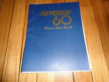 Jefferson 60 Diesel Motor Yacht Sales Brochure