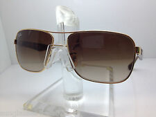 New Ray Ban Sunglasses RB 3516 001/13 62MM GOLD/BROWN GRADIENT LENS