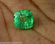 4.80 CT. Natural Cushion Shape GGL Certified Zambian Emerald Loose Gemstone EBAY
