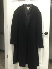 Pronto-Uomo Mens Long Dress Coat Wool/Cashmere Blend Sz 52 Designer!