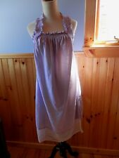 PRETTY LAVENDER COLOR LAYERED COTTON SUMMERTIME HOUSE DRESS OR NITIE...