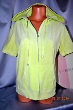 Victorias Secret Supermodel Essentials Neon Terry Beach Cover Up Hoodie NWT L