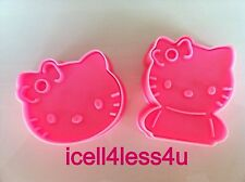Hello Kitty Cat Cookie Cutter Mould Mold With Stamps NIB New Toast Vegetable Cut