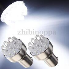 2pcs White Car 1157 BAY15D Globes 12 LED Brake Turn Stop Tail Light Lamp Bulb
