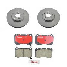 Set of 2 Front Rotors & Brembo Pads with Bembo Brake System for: Acura TL Type-S