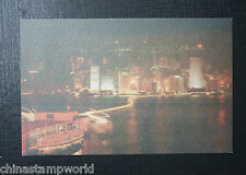 old China HK  postcart,the Star Ferry,unused,HK,Tsim sha tsui Peier at night