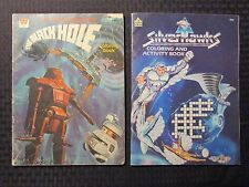 1979/87 THE BLACK HOLE & SILVERHAWKS Activity Coloring Book VG-/VG+ LOT of 2