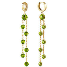 9.02 CTW 14K Solid Gold Chandelier Earrings Peridot