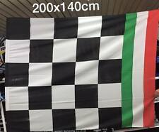 1 bandierone scacchi bianconeri tricolore 140x200cm Juventus Campione bandiera