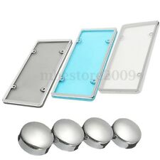 1pcs Combo Car Plastic License Plate Frame & Clear Shield Cover Holder W/ Screw