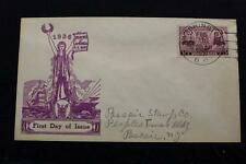 PATRIOTIC COVER 1937 1ST DAY ISSUE ARMY NAVY SERIES FARRAGUT & PORTER (2722)