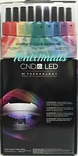CND Shellac Combo~ 9200 LED LIGHT LAMP 3C Tech + RAINBOW KIT 26pc Gel Polish Set