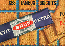 Publicité Advertising 1964 ( Double page ) Petit Brun Extra Biscuits Gouter