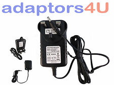Reino Unido 12v 2a Red AC adaptador Power Supply para Western Digital Wd Tv Live Plus
