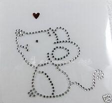 Hotfix Bügelbild  Strass süßes Mäuschen Maus mit Herz 140208