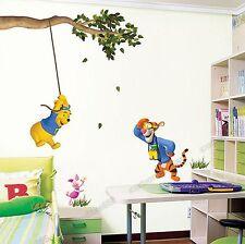 Bambini/bambini/stanza bebè Winnie The Pooh Altalena Adesivi Murali Decorazionni