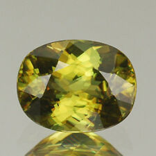 Natural Gem 2.57CT VVS Dazzling Yellow Multi 5A Luster SPHENE (Titanite) RARE!!