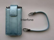 New Motorola Leather Metalic Blue Pouch & Strap For L2,L6 & L7 Mobile Phones