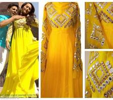 REDUCED Yellow Sonakshi Sinha Semi Stitched Gown dress anarkali Lengha suit