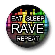 Eat Sleep Rave Repeat 1 Inch / 25mm Pin Button Badge Dance Techno Music Trance