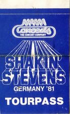 STEVENS, SHAKIN - 1981 - Pass - Germany Tour